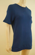 COS Royal Blue 100% Cotton Scoop Neck Short Sleeve Jumper Sweater Top EU:S BNWT
