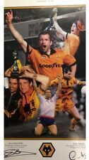 Steve Bull & Andy Mutch HandSigned Limited Edition Wolves Wolverhampton Prints