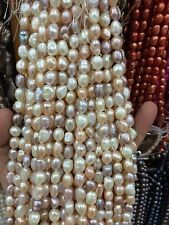 """8-9mm Water White pink purple Freshwater Cultured Pearl  Loose Beads 13"""""""