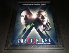 "THE X-FILES CASTX2 SIGNED FRAMED A4 12""X8"" PHOTO POSTER GILLIAN ANDERSON NEW S10"