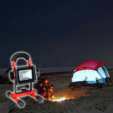 Cordless Rechargeable LED 10W Flood Light Cool White Outdoor Camping Spot Lamp