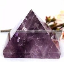 30mm Amethyst Crystal Healing Pyramid Egyptian Stone Home Office Decor Gifts S3