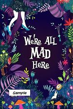 "We're all mad here funny ( 2"" x 3"" ) Locker / Fridge Magnet"