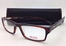 New TUMI Eyeglasses T 305 53-17 140 Brown Rectangular Frame w/ Clear Demo Lenses