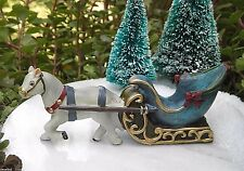 Miniature Dollhouse FAIRY GARDEN ~ Victorian Village CHRISTMAS Horse & Carriage