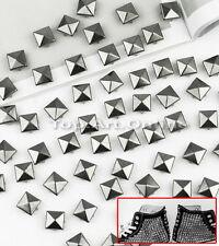 100pcs Punk Rock Rivet Clous Stud Pyramide Pr DIY Mercerie Ceinture Chaussure
