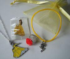 Princess Belle Party Bag Filler Tattoo Ring Charm Necklace Bracelet Favor Gift