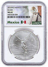 2016-Mo Mexico 1 Oz Silver Libertad Onza NGC MS69 (Excl Mexico Label) SKU43023