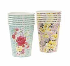 Talking Tables Truly Utterly Scrumptious Paper Cups Party Vintage Chic, 12 PK