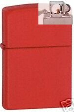 Zippo 233 red matte Lighter with PIPE INSERT PL