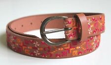 Lucky Brand - XL - NWT $69 - 1.5 Inch - Aztec Embroidered Tan Brown Leather Belt
