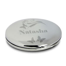 Personalised Butterfly Swirl Compact Mirror Birthday Gifts For Women P0102R74