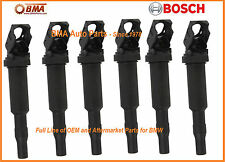 NEW OEM BOSCH BMW E46 E60 E85 E90 IGNITION COIL SET x6 12137594937 / 0221504470