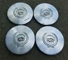 "Set of 4 OEM 1986-90 Cadillac 14"" Alloy Wheel Center Caps Hubcaps GM pn 25537432"