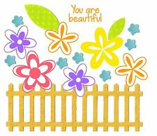 Sizzix Framelits Flowers & Fence #660194 Retail $14.99 15 pk & stamps by Barnard