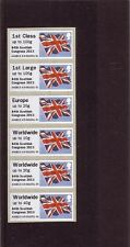 GB 2013 Post & Go Frama 84th Scottish Congress Union Flag Collectors Strip A3