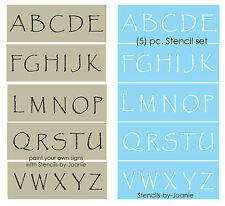 """STENCIL Primitive Papyrus Alphabet 2"""" tall Capital Letters Country Rustic Signs"""