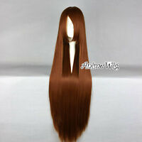 Long Straight 100CM Dark Brown Lolita Fashion Party Cosplay Wig Heat Resistant