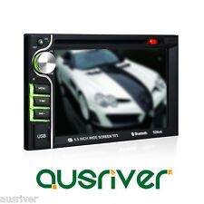 """6.5"""" HD 12V Reverse Display 2 Din In-Dash Car DVD Player Bluetooth Touch Screen"""