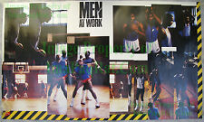 Vintage NIKE Poster MEN AT WORK Buck Williams Barkley Malone Robertson Moncrief