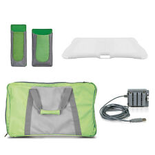 NEW Green Wii 4 FIT Workout Kit - AC Power, Gel Cover, Travel Bag, Holster