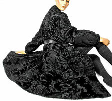 L Persianer Mantel schwarz Pelzmantel fur coat persian lamb black VINTAGE piel