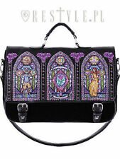 Restyle Stained Glass Gothic Church Rocker Satchel Briefcase Bag Purse Handbag