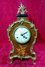 Antique Imperial of Italy Mantle Clock K Franz Hermle 130-070 Floral Lute Violin