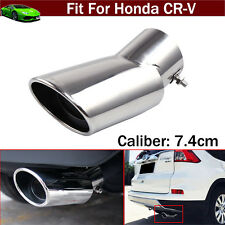 Silver Exhaust Muffler Tail Pipe Tip Tailpipe Trim For Honda CR-V CRV 2008-2017