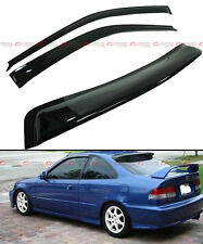 96-2000 HONDA CIVIC 2DR COUPE JDM SMOKE REAR ROOF WINDOW + SIDE DOOR VISOR COMBO
