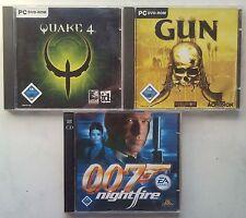 James Bond 007 NightFire + GUN Westen Shooter +  Quake 4 Sammlung PC Spiele