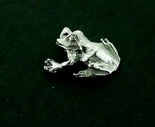 Frog Charm #2 / Pendant in Sterling    Vintage  3/D Charm