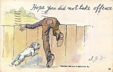POSTCARD  COMIC   Hope  you  did not  take  offence  (Bulldog  Related )