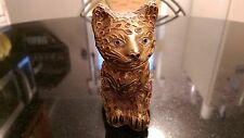 Awesome Gold Plated Cloisonne Cat Figurine