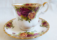 Royal Albert England Bone China Old Country Roses Demitasse Coffe Cup saucer set