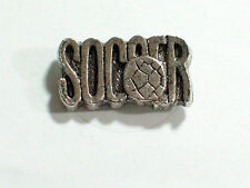 Vintage Soccer  Ball  Pin  Badge Silvertone  (#180S)