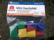 GEOSOLIDS - 8 SMALL PLASTIC GEOMETRIC SHAPES school maths resource 3d