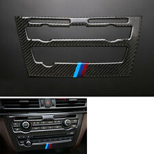 Carbon Fiber Inner Console CD Panel Decoration Cover Trim For BMW X6 F16 15-17