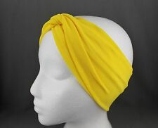 turban twist knot fabric stretch headband turband hair head band extra wide