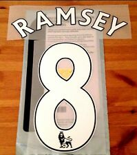 2016-17 Arsenal Home & 3rd Away Shirt RAMSEY#8 PS-Pro SportingiD Name Number Set