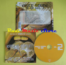 CD DISCO SOUND 70-80 VOL 2 compilation MACHO CERRONE P.LION (C2)no lp mc dvd vhs