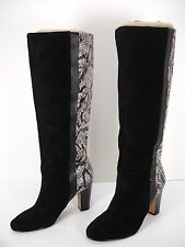 MRKT MARK-ET HALLIE SUEDE FAUX SNAKE LEATHER PULL ON KNEE HIGH BOOTS WOMEN'S 6 M