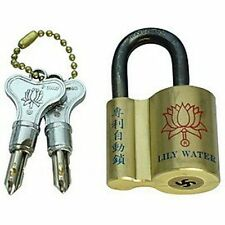 Rare 45mm 12 Pin Push Key Lily Water Padlock with 2 Original Keys Free Shipping