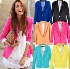 Hot Sale Women Casual Candy Colors Blazer Suit Jacket 6 Colors XS S M L XL