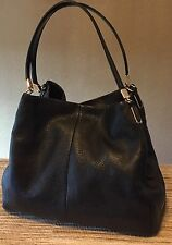 AUTHENTIC COACH Madison Phoebe Black Leather Shoulder Bag #26224