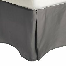 IMPRESSIONS BY LUXOR TREASURES PRESTIGE 1500 THREAD COUNT QN BED SKIRT - SILVER