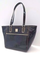 Dooney & Bourke Small Salem Patent Leather Top Handle Tote (Black)