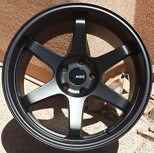 "18"" MiRO 398 Wheels For Subaru WRX EVO 18X9.5 +20 5x114.3 Black Rims Set of 4"
