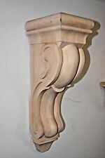 "12"" Traditional Style Maple Wood Corbel Bracket Support"