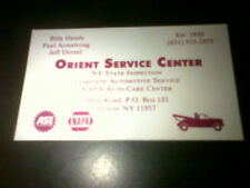 Bill Hands Business Card 1960's Chicago Cubs Pitcher Orient Point NY Gas Station
